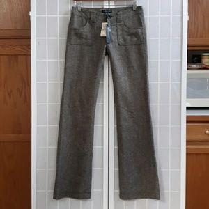 NWT $88 BANANA REPUBLIC Low Rise Tweed Trousers 2L